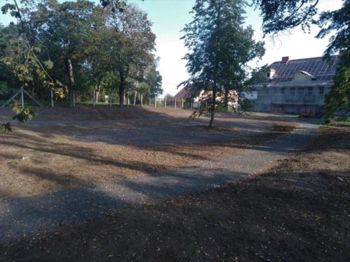 Park před výsevem